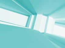 Fond intérieur vide d'architecture de concept abstrait Photos stock