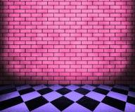 Fond intérieur violet d'échiquier Photos stock