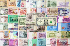 Fond international d'argents Image stock