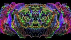 Fond iridescent rêveur de charme de la science fiction en cristal illustration stock