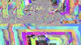 Fond iridescent rêveur futuriste géométrique hypnotique de particules illustration stock