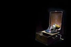 Fond isolé de phonographe Images stock