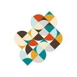 Fond isométrique de composition en rétro vintage géométrique abstrait Image libre de droits