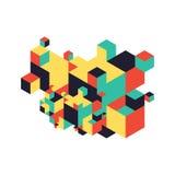 Fond isométrique de composition moderne abstraite illustration libre de droits