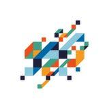 Fond isométrique géométrique coloré abstrait illustration stock