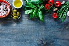 Fond italien de nourriture Photos libres de droits