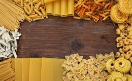 Fond italien de pâtes Photos libres de droits