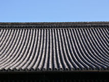 Fond japonais de toit de temple Photos libres de droits