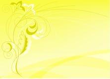 Fond jaune abstrait illustration de vecteur