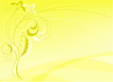Fond jaune abstrait Photo stock