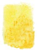 Fond jaune abstrait d'aquarelle Image libre de droits