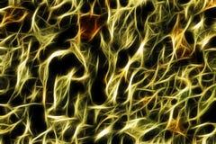 Fond jaune abstrait de filet de fractale Photos libres de droits