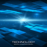 Fond jaune abstrait de technologie Photo stock