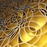 Fond jaune abstrait. Illustration Libre de Droits