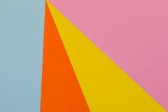 Fond jaune, bleu, pourpre et orange de papier de couleur Images libres de droits