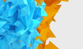 Fond jaune-bluesky géométrique de couleur de résumé illustration de vecteur