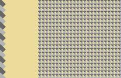 Fond jaune-clair avec des formes géométriques de nuance différente illustration libre de droits