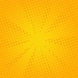 Fond jaune comique de rétros rayons Images libres de droits