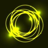 Fond jaune d'effet de cercle de plasma Image libre de droits