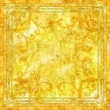 Fond jaune de batik Image libre de droits