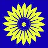 Fond jaune de fleur Photo libre de droits
