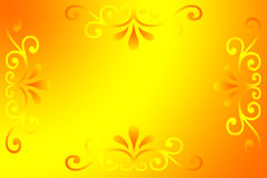 Fond jaune de gradient Photo stock