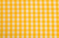 Fond jaune de guingan Image libre de droits