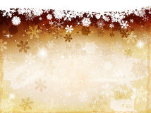 Fond jaune de Noël Image stock
