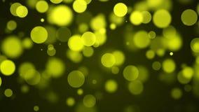 Fond jaune de particules Images libres de droits