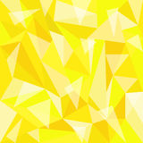 Fond jaune de polygone Photographie stock