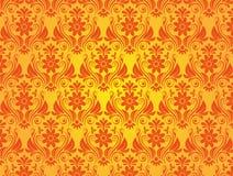 Fond jaune de style de vintage Image libre de droits