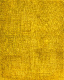 Fond jaune de tissu Photos libres de droits