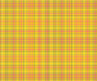 Fond jaune et rose de plaid Photographie stock
