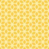 Fond jaune géométrique floral sans couture décoratif de modèle Image libre de droits