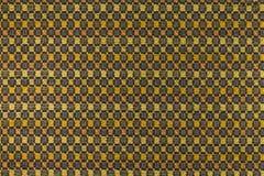 Fond jaune-orange avec les modèles géométriques Image libre de droits