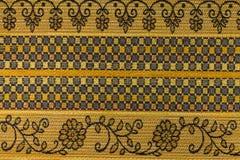 Fond jaune-orange avec les modèles géométriques Photo libre de droits