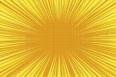 Fond jaune-orange de vintage d'art de bruit de rayons rétro illustration de vecteur