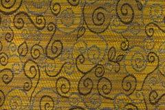 Fond jaune-orange et brun avec les modèles géométriques Photographie stock libre de droits
