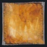 Fond jaune peint par huile Images libres de droits
