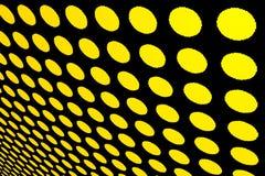 Fond jaune pointillé par abstrait Photos libres de droits