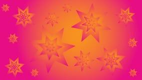 Fond jaune rose avec des étoiles Images libres de droits