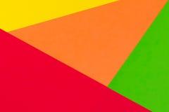 Fond jaune, rouge, vert et orange de papier de couleur Images libres de droits