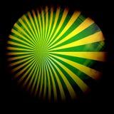 Fond jaune vert de rayon Photographie stock libre de droits