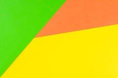 Fond jaune, vert et orange de papier de couleur Image libre de droits