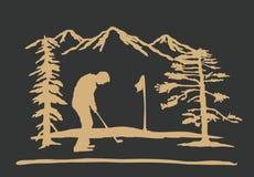 Fond jouant au golf illustration de vecteur