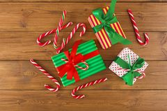 Fond joyeux de Noël, vue supérieure Photographie stock