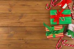 Fond joyeux de Noël, vue supérieure Image libre de droits