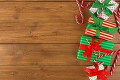 Fond joyeux de Noël, vue supérieure Images libres de droits