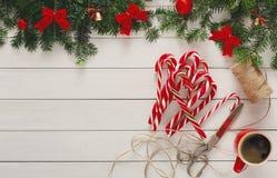 Fond joyeux de Noël, vue supérieure Photos libres de droits