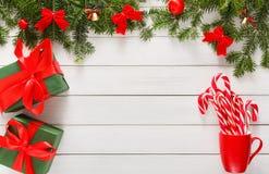 Fond joyeux de Noël, vue supérieure Photo stock